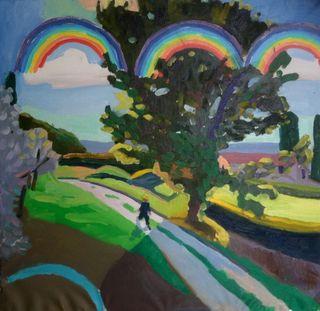 Rainbows painting