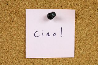 Ciao on corkboard