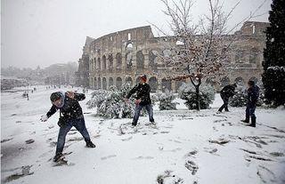 Colisseum in snow