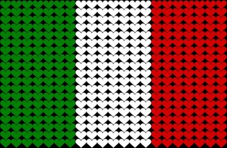 Italian heart flag for blog