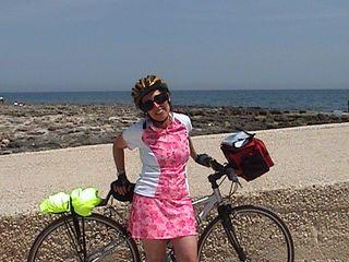 Susan on bike