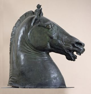 Donatello horse head