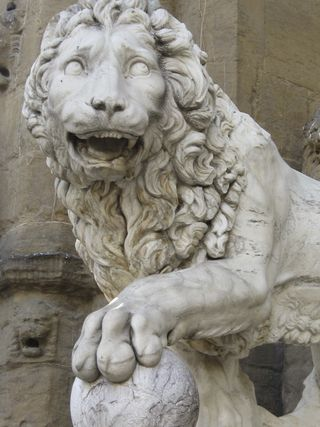 Florence lion close up