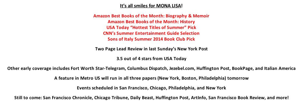A New Book from the Author of LA BELLA LINGUA   Dianne Hales