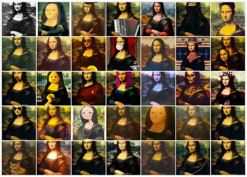1. Mona lisa collage