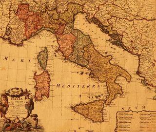 Italian antique map