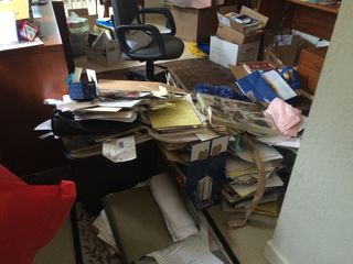 Office trash pile 1