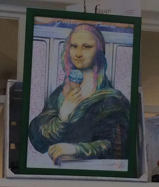Mona in gelato shop